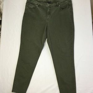 Lane Bryant Mid Rise Stretch Skinny Ankle Jeans